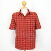 เสื้อสูทผ้าฝ้ายลายก้านมะลิ สีแดง ไซส์ 2XL