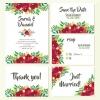 การ์ดแต่งงาน Wedding card สไตล์การออกแบบดีไซน์ใช้สีขาวเป็นสีพื้นและตกแต่งด้วยลายดอกไม้สีแดงทำให้เพิ่มความหรูหรามีราคา การ์ดงานแต่ง ไว้สำหรับ เรียนเชิญแขกผู้มีเกียรติเข้ามาร่วมงานแต่งงาน // ตัวอย่างดีไซน์ การ์ดแต่งงาน การ์ดเชิญ การ์ดสวยๆ