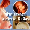ครรภ์ 5 เดือน น้ำหนัก ของลูกน้อยควรเป็นเท่าไหร่ ?