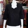 เสื้อผ้าฝ้ายสุโขทัยสีดำ ปักมุก ไซส์ S