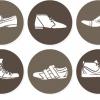 ฉลากเสื้อผ้าแฟชั่น สไตล์การออกแบบดีไซน์แบบเรียบๆแต่มีสไตล์ ฉลากไว้ใช้แปะกับแพคเกจรองเท้าผู้ชาย // ตัวอย่างดีไซน์ สติ๊กเกอร์ฉลาก Chill Shop Package