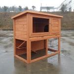 บ้านสัตว์เลี้ยง บ้านหมา บ้านแมว กระต่ายหนูไก่ นก อากาศถ่ายเทได้สะดวก 2 ชั้น ด้านบนมี 2 ห้อง สีไม้ธรรมชาติ