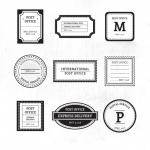 ฉลากป้ายติดพัสดุไปรษณีย์ สไตล์การออกแบบดีไซน์แบบเรียบๆแต่มีสไตล์ ฉลากไว้ใช้แปะกับกล่องพัสดุ,แบบฟอร์มชื่อที่อยู่ผู้ส่ง-ผู้รับ // ตัวอย่างดีไซน์ สติ๊กเกอร์ฉลาก Chill Shop Package