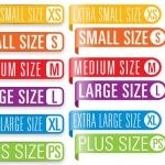 ฉลากเสื้อผ้าแฟชั่น สไตล์การออกแบบดีไซน์แบบเรียบๆแต่มีสไตล์ ฉลากไว้ใช้แปะกับแพคเกจเสื้อเพื่อให้บอกไซส์เสื้อที่ถูกต้อง // ตัวอย่างดีไซน์ สติ๊กเกอร์ฉลาก Chill Shop Package