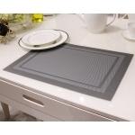แผ่นรองจาน High grade PVC table mat สี Silver ขนาด 30 x 45 cm จำนวน 4 แผ่นต่อ 1 ชุด