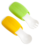 KK-04 ช้อนส้อมรุ่น Mealtime Duo (เขียว/ส้ม)