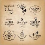 ฉลากอาหาร ของกิน สไตล์การออกแบบดีไซน์แบบเรียบๆแต่มีสไตล์ ฉลากไว้ใช้แปะกับกระจกร้านเพื่อการตกแต่ง // ตัวอย่างดีไซน์ สติ๊กเกอร์ฉลาก Chill Shop Package