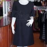 เดรสผ้าฝ้ายสุโขทัยสีดำ ไซส์ XL