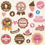 ฉลากอาหาร ของกิน สไตล์การออกแบบดีไซน์แบบใช้สีหวานๆ ฉลากไว้ใช้แปะกับแพคเกจไอศกรีม,ถ้วยไอศกรีม // ตัวอย่างดีไซน์ สติ๊กเกอร์ฉลาก Chill Shop Package