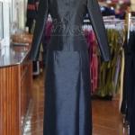 ชุดไทยจิตรลดา ผ้าไหมแพรทอง สีดำ ไซส์ 3XL