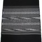ผ้าตัดชุด ฝ้ายลายน้ำไหล ขาวดำ