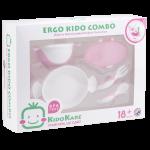 KK-11 ชุดจานชามและช้อนส้อม Ergo Kido Combo (ชมพู)
