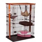 กรงแมว style Condo มีหลายชั้น บ้านแมว กรงสัตว์เลี้ยง เป็นทั้งบ้านที่นอน ห้องอาหาร ห้องน้ำสำหรับสัตว์เลี้ยง ประกอบง่าย มี 2 ขนาด [หมดสต็อกค่ะ]