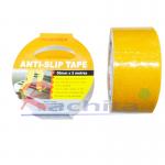 """anti slip tape เทปกันลื่น สีเหลือง หน้ากว้าง 2"""" ยาวม้วนละ 5 เมตร เทปมีกาว ผิวกระดาษทราย สำหรับติดบันได ทางเดิน ทางลาดเอียง"""