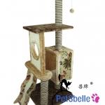 MU0118 คอนโดแมวสี่ชั้น ต้นไม้แมว กระบะนอน ของเล่นแขวน บันไดฝนเล็บ บ้านอุโมงค์ ลายคลาสสิค สูง 155 cm