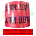 """๊Underground tape เทปฝังใต้ดิน สีแดง Print """"CAUTION ELECTRIC LINE BURIED BELOW """" กว้าง 15 ซม.(6นิ้ว) ยาว (305 เมตร)"""