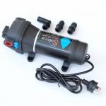ปั๊ม 12VDC 17 Lpm 2.8 บาร์ ( pressure switch ) สำหรับ ระบบสปริงเกอร์ ( รองรับหัวพ่นหมอกเดี่ยวเนต้าฟิล์ม 0.6 mm 50-80 หัวพ่น )