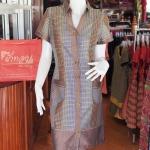 เดรสผ้าฝ้ายลายมุกสลับสี ไซส์ XL