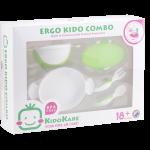 KK-11 ชุดจานชามและช้อนส้อม Ergo Kido Combo (เขียว)