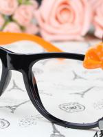 แว่นตาแฟชั่นเกาหลี กระต่ายดำส้ม (ไม่มีเลนส์) (ของจริงสีส้มเข้มกว่าในภาพคะ)