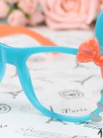 แว่นตาแฟชั่นเกาหลี กระต่ายฟ้าส้ม (ไม่มีเลนส์)