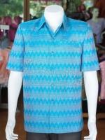 เสื้อสูทผ้าฝ้ายลายมัดหมี่สุโขทัย ไซส์ L