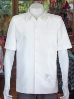 เสื้อสูทไหมแพรทอง สีขาวนวล ไซส์ M