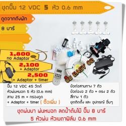 ชุดปั๊ม 12 VDC 5 หัว 0.6 mm