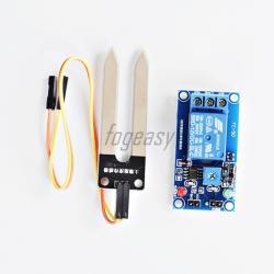เซนเซอร์วัดความชื้น เซนเซอร์ควบคุมความชื้นในดิน DC 12v soil humidity sensor Relay module R019M