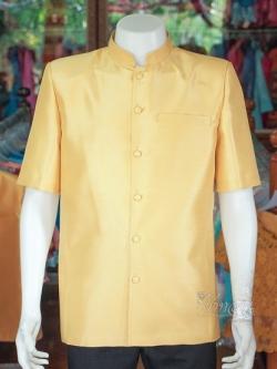 เสื้อสูทไหมแพรทองคอพระราชทาน ไซส์ 3XL