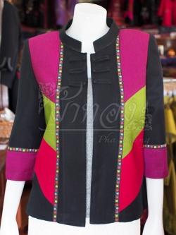 เสื้อคลุมผ้าฝ้ายสุโขทัยคอจีน ไซส์ L