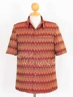 เสื้อสูทผ้าฝ้ายลายมัดหมี่สุโขทัย สีแดง ไซส์ 2XL