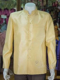 เสื้อสูทไหมแพรทองคอพระราชทานแขนยาว ไซส์ 2XL