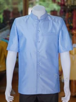 เสื้อสูทไหมแพรทองคอพระราชทาน ไซส์ M