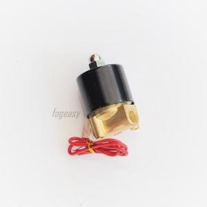 """โซลินอยด์วาล์วทองเหลือง N/C 220V AC 1/4"""""""