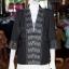 เสื้อคลุมผ้าฝ้ายสุโขทัยสีดำแต่งผ้าลายมัดหมี่สุโขทัย ไซส์ L thumbnail 1