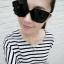 แว่นตากันแดดแฟชั่นเกาหลี สีดำมัน thumbnail 1