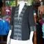 เสื้อคลุมผ้าทอลายลูกแก้วสีดำแต่งผ้าลายมัดหมี่สุโขทัย ไซส์ XL thumbnail 3