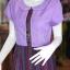 เดรสผ้าฝ้ายสุโขทัยแต่งผ้ามุกสายรุ้ง ไซส์ M thumbnail 2