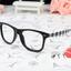 แว่นตาแฟชั่นเกาหลี หมากรุกดำขาว (ไม่มีเลนส์) thumbnail 1