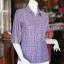 เสื้อผ้าฝ้ายทอลายสก็อต ปกเชิ้ตคอวี ไซส์ L thumbnail 2