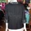 เสื้อคลุมผ้าฝ้ายสุโขทัยสีดำแต่งผ้าลายมัดหมี่สุโขทัย ไซส์ L thumbnail 4