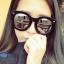 แว่นตากันแดดแฟชั่นเกาหลี กรอบดำมัน เลนส์ปรอทกระจก thumbnail 1