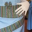 ชุดเสื้อกระโปรงผ้าฝ้ายสุโขทัยแต่งลายมุกสายรุ้งปกเชิ้ต ไซส์ S thumbnail 3