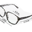แว่นตาแฟชั่นเกาหลี วินเทจดำขาว (พร้อมเลนส์) thumbnail 3