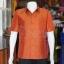 เสื้อสูทไหมผสมฝ้าย สีน้ำตาลอิฐ ไซส์ XL thumbnail 1