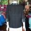เสื้อคลุมผ้าทอลายลูกแก้วสีดำแต่งผ้าลายมัดหมี่สุโขทัย ไซส์ XL thumbnail 4