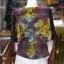เสื้อผ้าฝ้ายบาติกแต่งปักไหม ไซส์ S thumbnail 3