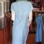 ชุดเสื้อกระโปรงผ้าฝ้ายสุโขทัยแต่งลายมุกสายรุ้งปกเชิ้ต ไซส์ S thumbnail 4