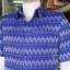 เสื้อสูทผ้าฝ้ายลายมัดหมี่สุโขทัย สีน้ำเงิน ไซส์ 2XL thumbnail 4